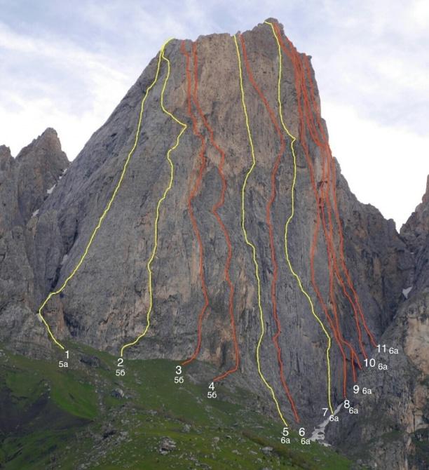 Маршруты восхождений на скалы в Ингушетии