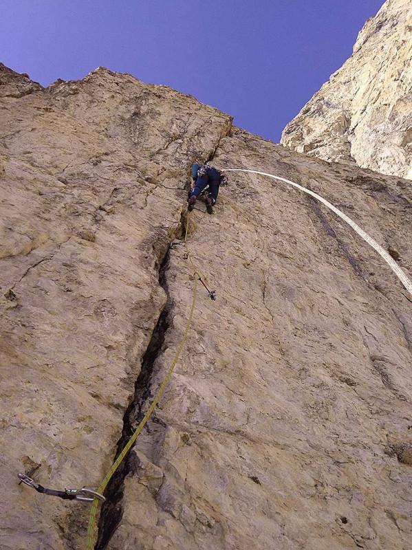 Восхождение на скалу в Ингушетии