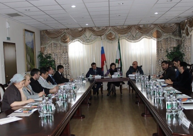 Конференц зал в горах Ингушетии