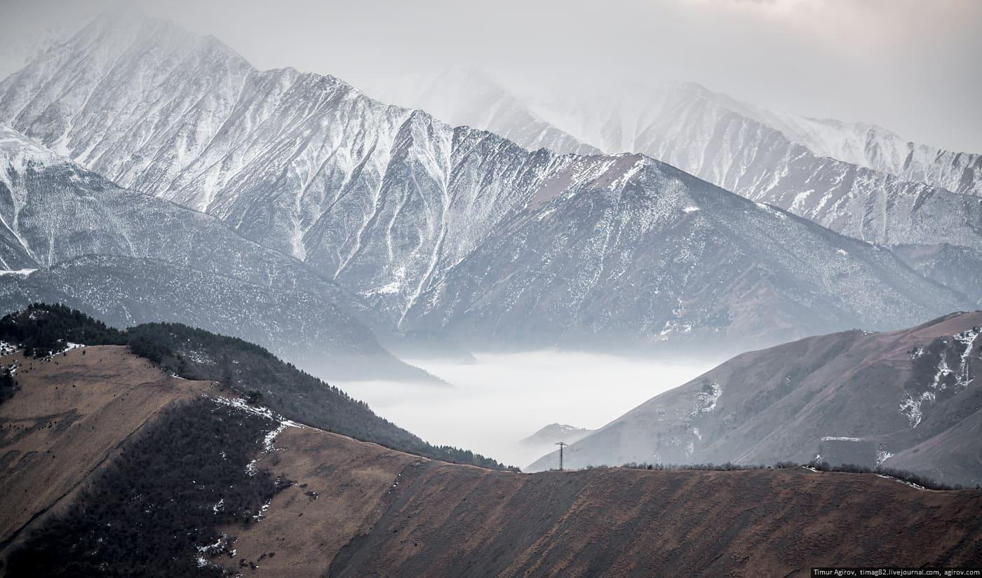 Горная Ингушетия зимой